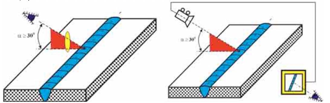 wizualna ocena spoin vt - oko uzbrojone