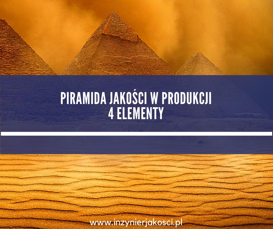 piramida jakości 4 elementy